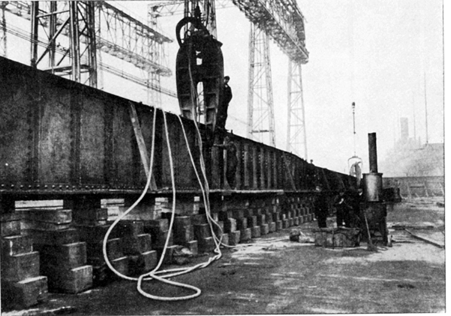 Laying of the Titanic Keel