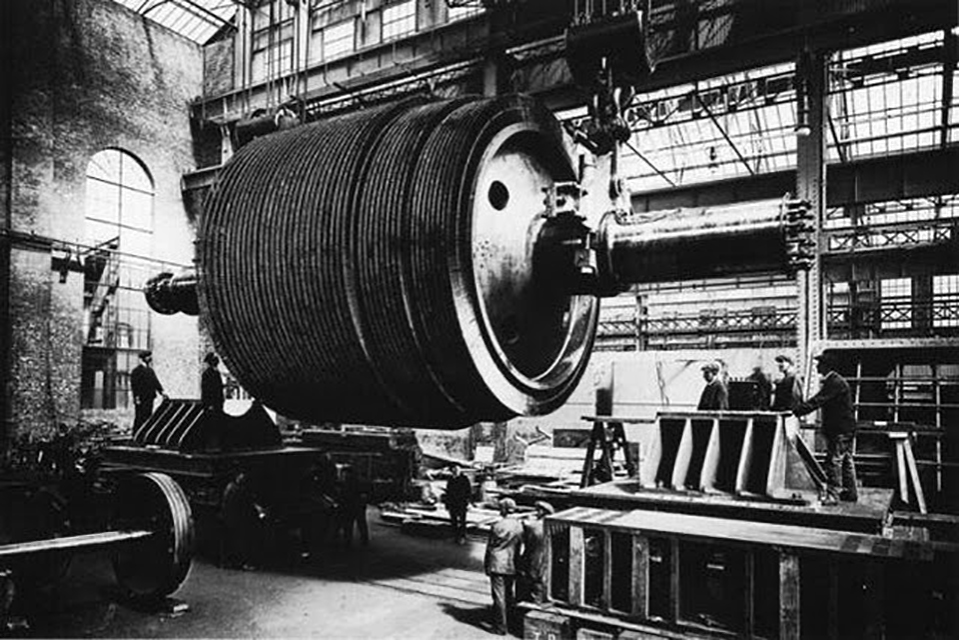 Low-pressure Parsons steam turbine
