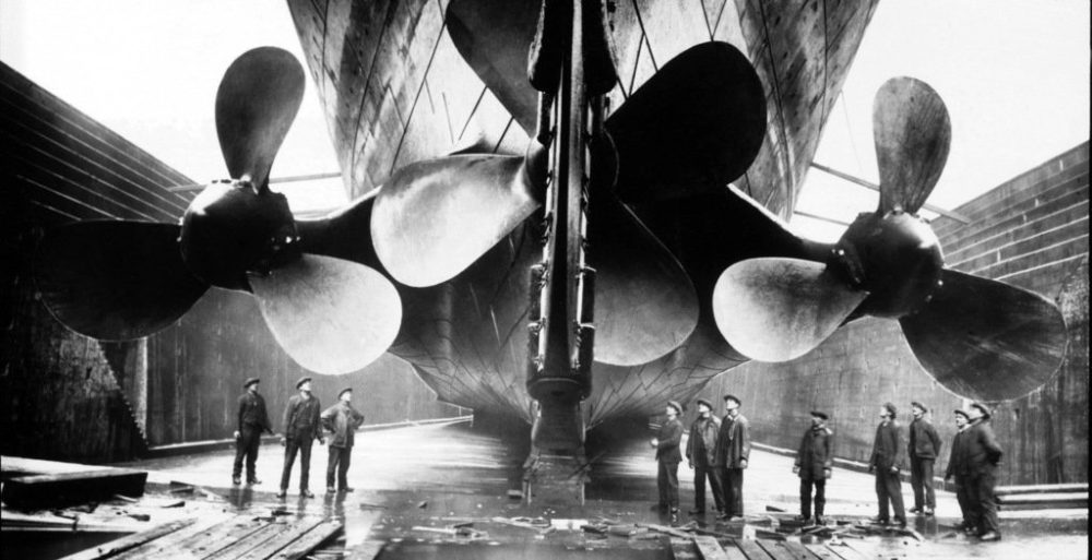 Titanic Propellers after installation