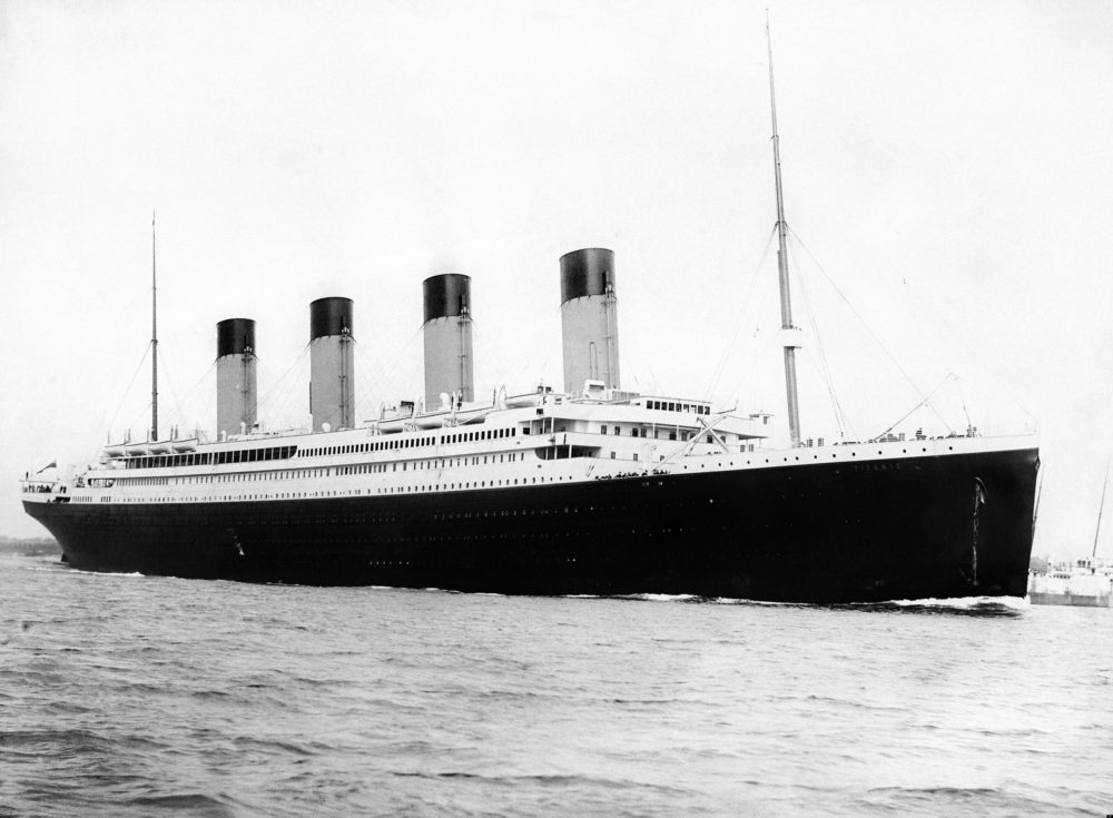 Titanic leaving for Cherbourg