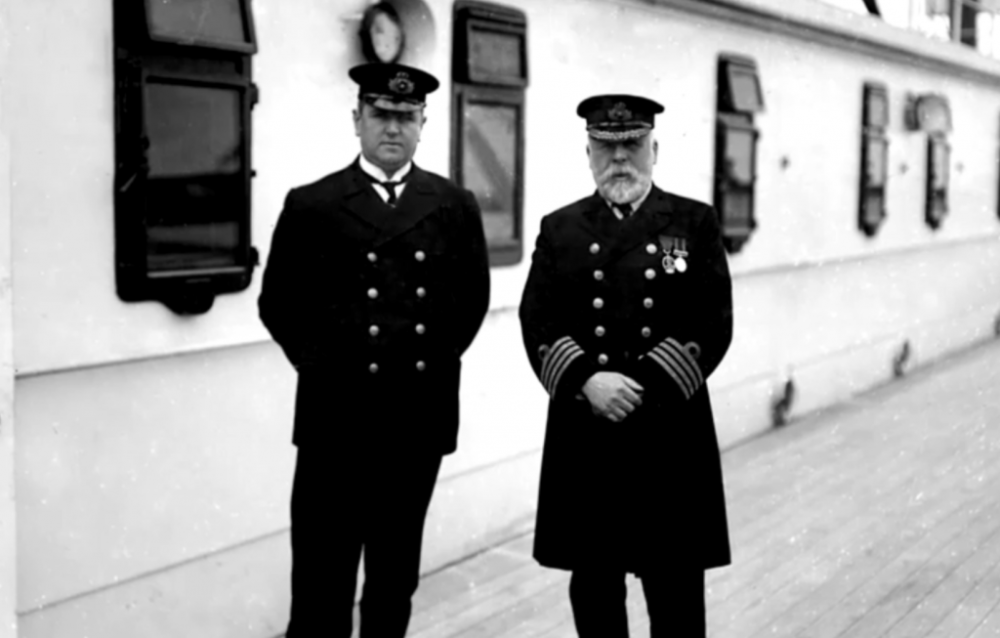 Captain Edward J. Smith, and Purser Hugh Walter McElroy