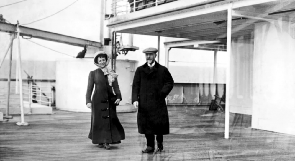 Enjoying the weather on deck of the Titanic